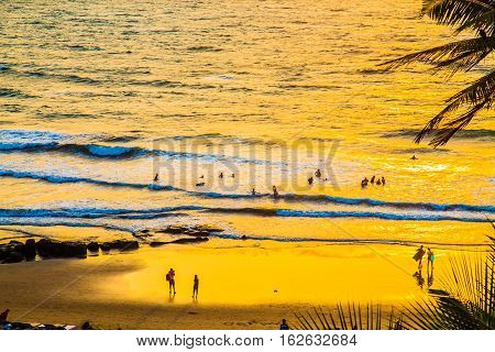 Sunset on Indian Pacific Ocean, Anjuna, Goa