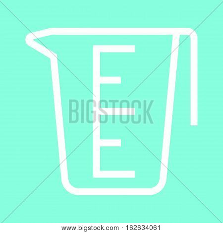 Measuring cup icon in trendy flat style isolated on grey background. Kitchen symbol for your design, logo, UI. Vector illustration, EPS10.