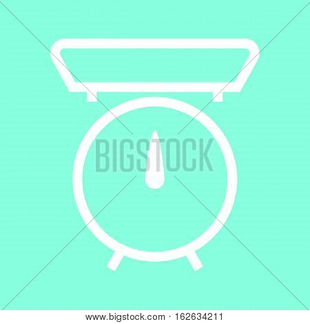 Kitchen scale icon in trendy flat style isolated on grey background. Kitchen symbol for your design, logo, UI. Vector illustration, EPS10.