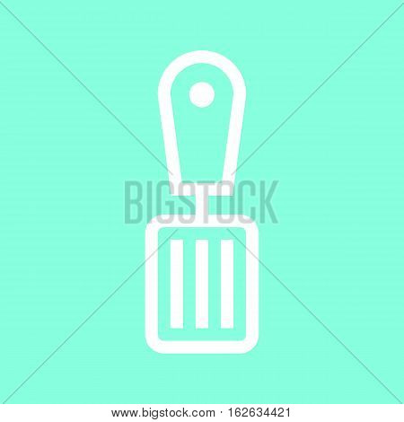 Spatula icon in trendy flat style isolated on grey background. Kitchen symbol for your design, logo, UI. Vector illustration, EPS10.