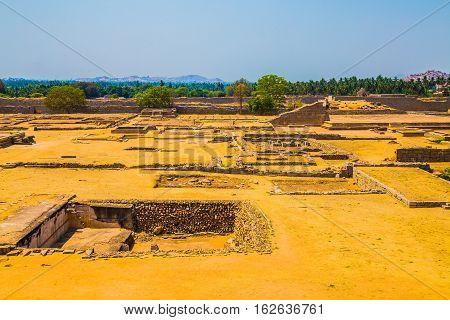 Old indian ruins, Hampi, Unesco world heritage site, India