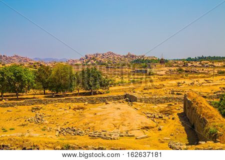 Ancient ruins of Hampi, Unesco world heritage site, India