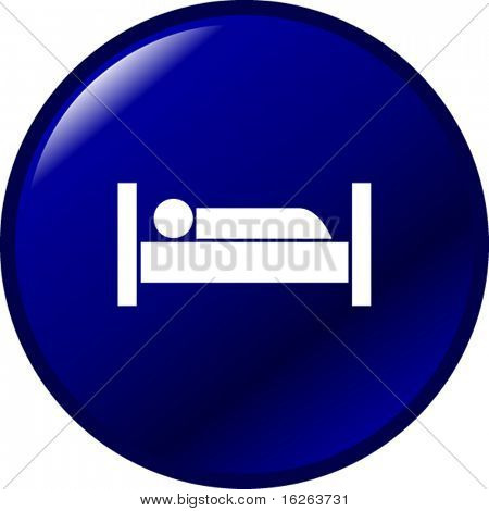 sleeping in bed button