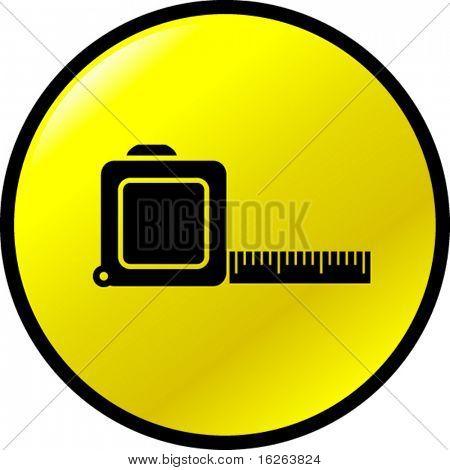 tape measure ruler button