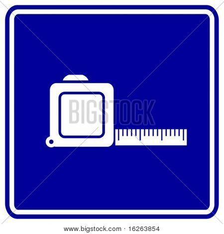 tape measure ruler sign