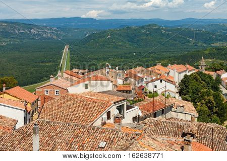 Old Roofs In Motovun Town