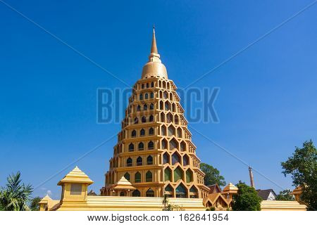 Golden Pagoda in Ang Thong Province of Thailand