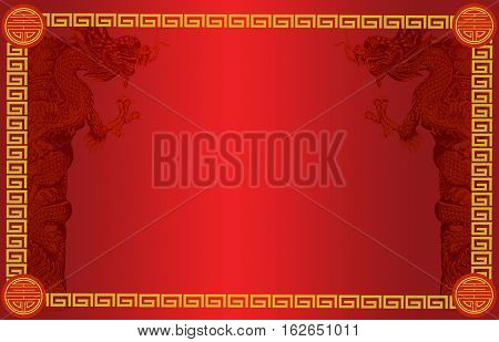Signboard Chinese Style With Chinese Drogon
