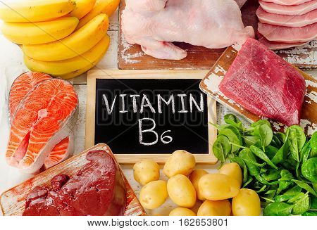 Foods With Vitamin B6(pyridoxine). Healthy Food.