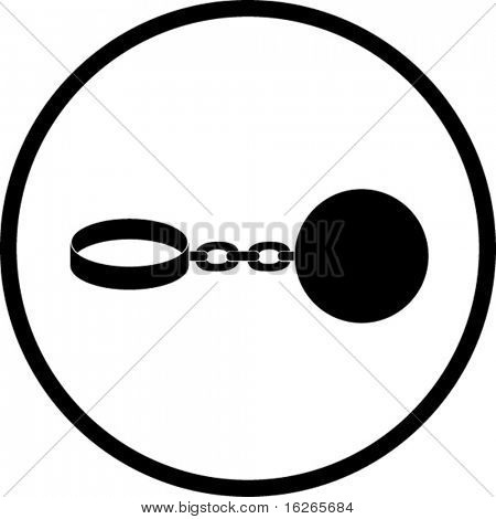 ball shackle symbol
