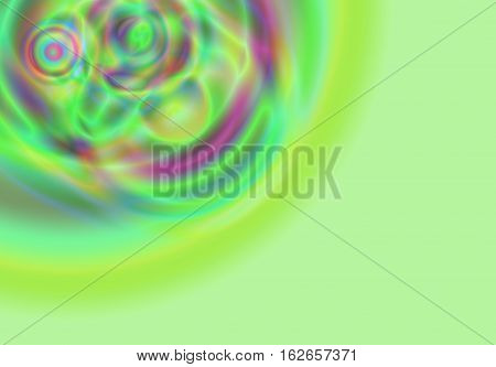 Abstract pastel green and purple color background art ,horizontal , Multi-color light and bright geometric circles and bubble design and textures.  One of a kind design artwork illustration.