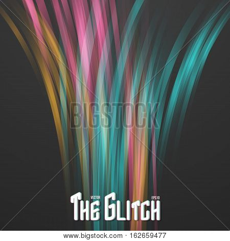 Illustration of Abstract Lightpainting Vector Background. Digital Caligraphy Light Streaks. Vector Neon Disco Light Waves Template