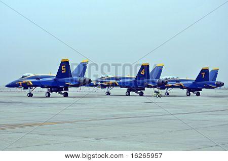 Blauen Engel F/A-18 Hornets