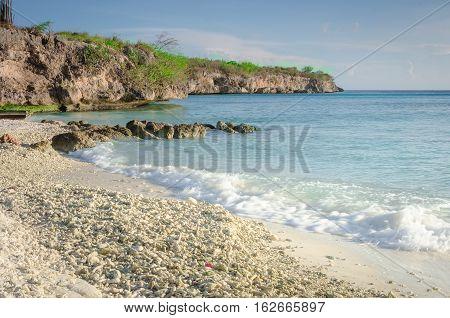 Porto Mari White Sand Beach With Blue Sky