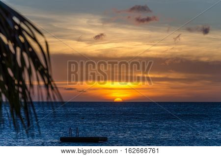 Sunset At The Porto Mari White Sand Beach