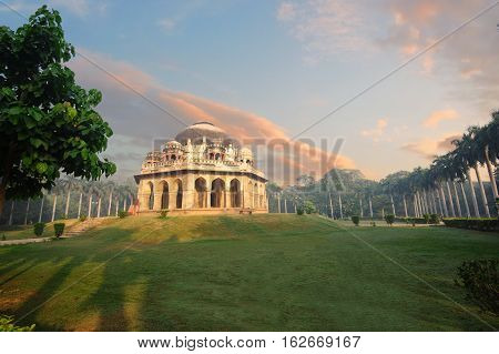 Muhammad Shah Sayyid's Tomb at early morning in Lodi Garden Monuments Delhi India