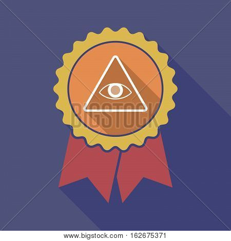 Long Shadow Badge With An All Seeing Eye