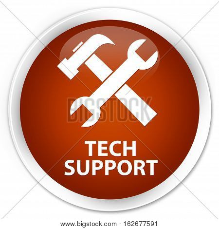 Tech Support (tools Icon) Premium Brown Round Button