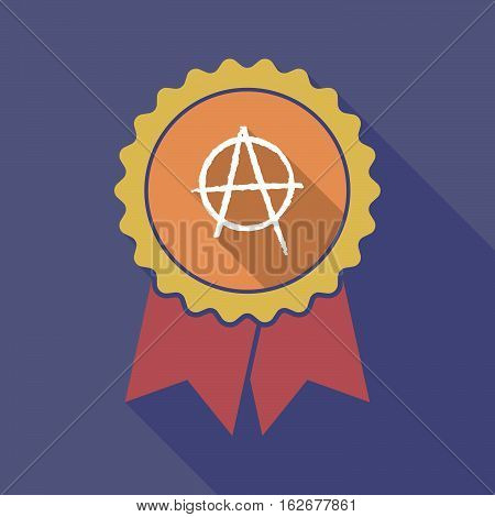 Long Shadow Badge With An Anarchy Sign