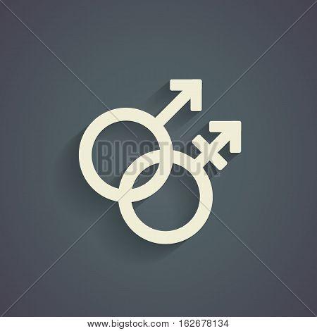 Trans gender  symbol on gray background