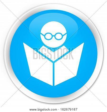 Elearning Icon Premium Cyan Blue Round Button