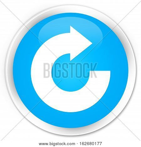 Reply Arrow Icon Premium Cyan Blue Round Button