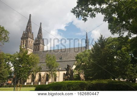Beautiful Gothic Basilica Of St Peter And St Paul, Vysehrad, Prague