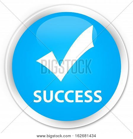 Success (validate Icon) Premium Cyan Blue Round Button