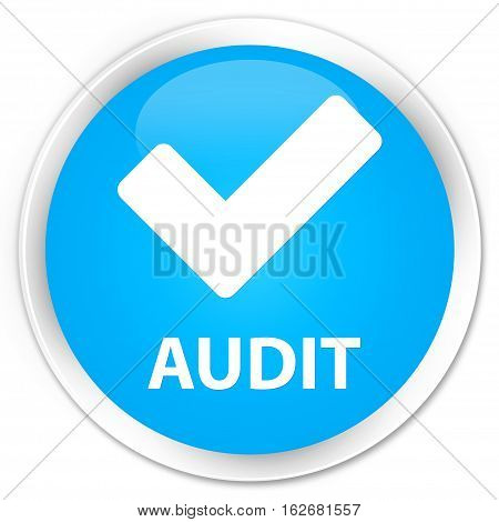 Audit (validate Icon) Premium Cyan Blue Round Button