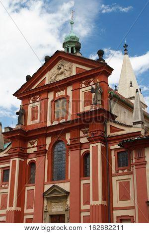 Beautiful St. George's Basilica At Prague Castle