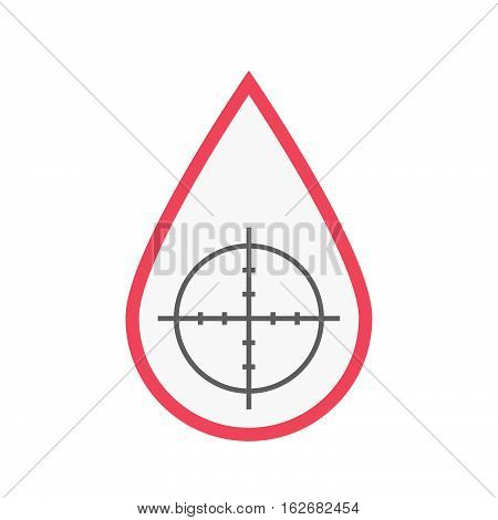 Isolated Blood Drop With A Crosshair