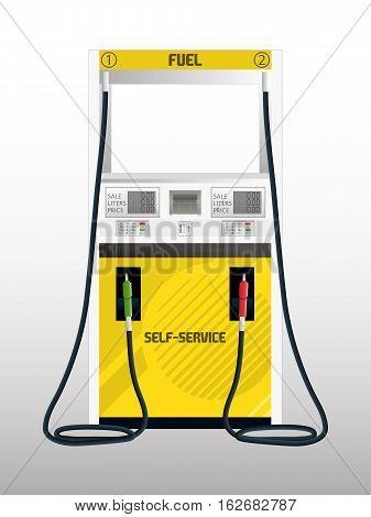 Illustration of a Fuel Pump Self Service