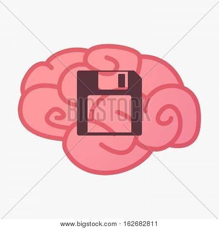 Isolated Brain With A Floppy Disk