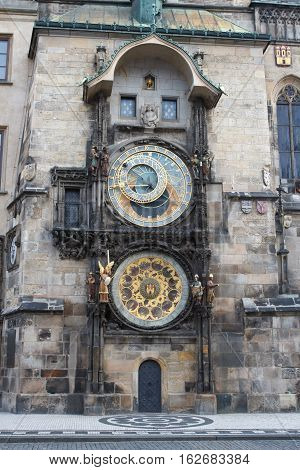 Exterior View Of The Astronomical Clock In Prague