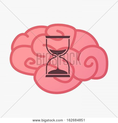 Isolated Brain With A Sand Clock