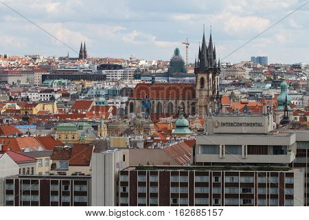 View Of The Old Town And The Church Of Our Lady Before Tyn. Prague