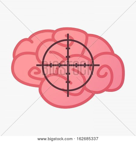 Isolated Brain With A Crosshair