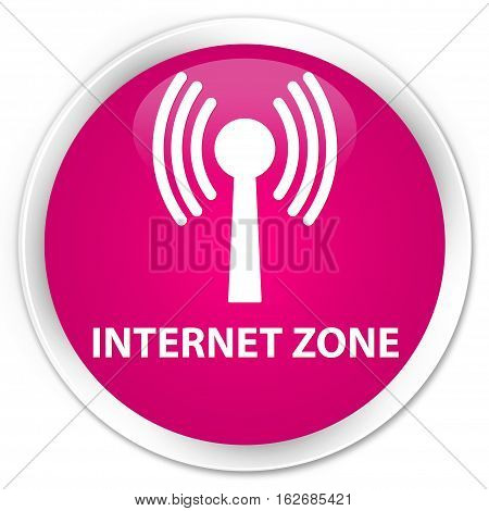 Internet Zone (wlan Network) Premium Pink Round Button