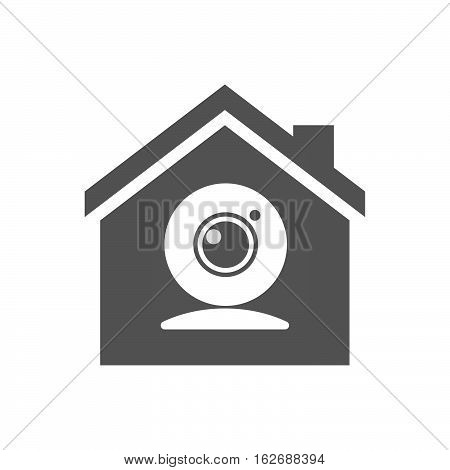 Isolated House With A Web Cam
