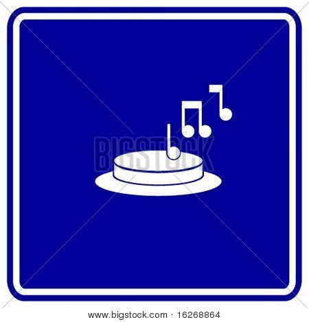 musical doorbell button sign