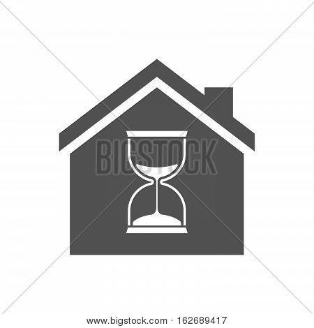 Isolated House With A Sand Clock