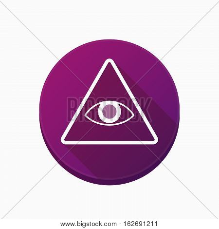 Isolated Button With An All Seeing Eye