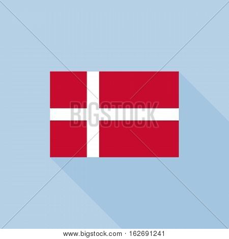 Denmark flag , flat design vector with official proportion