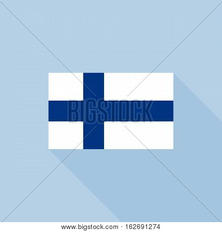 Finland flag , flat design vector with official proportion