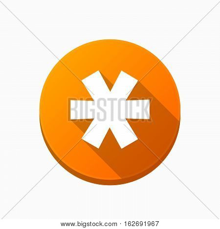 Isolated Button With An Asterisk