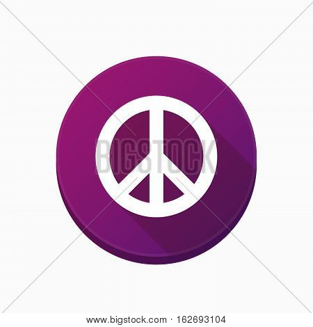 Isolated Button With A Peace Sign