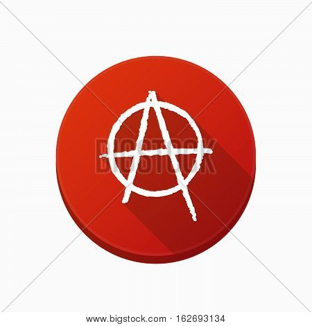 Isolated Button With An Anarchy Sign