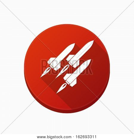 Isolated Button With Missiles