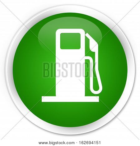 Fuel Dispenser Icon Premium Green Round Button
