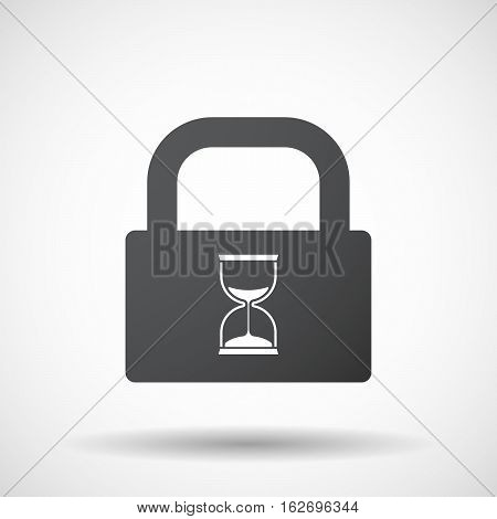 Isolated Lock Pad With A Sand Clock